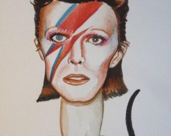 David Bowie mini painting