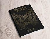 Adult Coloring Book - Floral Tattoo -DIGITAL Download PDF