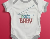 Acute Baby - Funny embroidery design for boys or girls -Instant Download -Digital Machine Embroidery Design