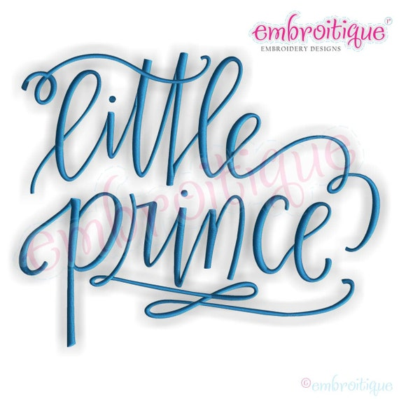 Little prince calligraphy baby boy instant email