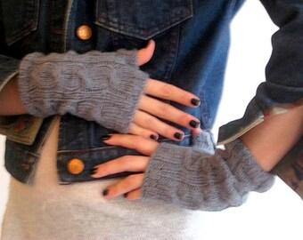 Deep Grey Mittens, Handmade Mittens,  Knitting Mittens, Christmas Gift