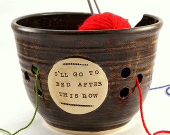 After this row - Huge Yarn Bowl - Made to Order