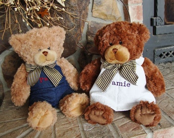 """15"""" Tall, Personalized Teddy Bears, A Gift for Anyone,Boy,Girl,Baby,Wife, Husband,etc. Washable!"""