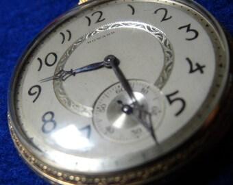 Vintage Howard Gentleman's 17 Jewels Pocket Watch-Serviced