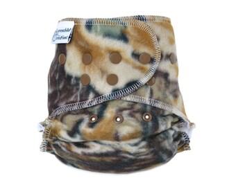 Cloth Diaper Cover OS, Fleece - Camouflage, hunter camo