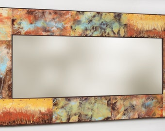 49 x 25 Metal and Copper Mirror