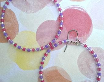Pink/Lavender striped hoops