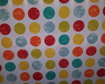 BOHO Multi COLORED DOTS red yellow blue greenOUTDOOR upholstery fabric home decor,36-05-20-0316