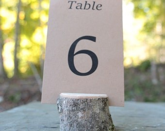 20 Medium Tree Branch Holders Rustic Chic Table Number Holder Country Outdoor Natural Wedding Eco Friendly