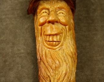 Wood spirit wood carving tree spirit art Christmas wall decor gift