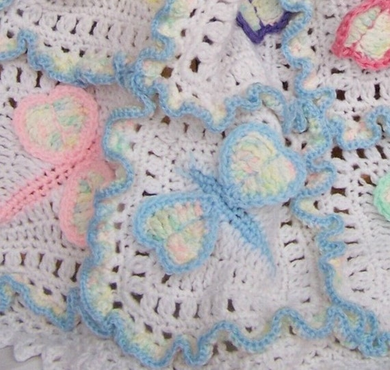 Dragonfly Crochet Afghan Pattern : Dragonfly Dreams Crochet Baby Afghan or Blanket Pattern ...