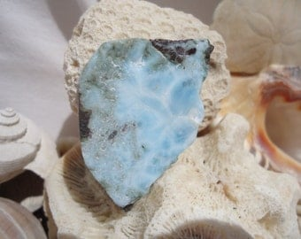 Larimar Slab #99 - Twin Flame, Soul Mate, Attract Love, Heart Healing, Blue Healing, Reiki Stone