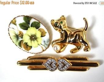 sale Vintage Jewelry Monet Rhinestone Brooch Lot