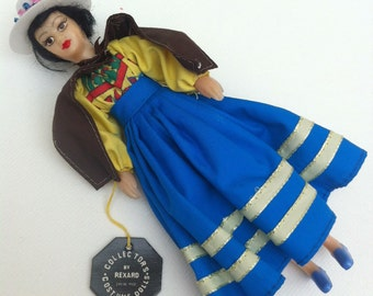 Boxed Miss Java 1960s Vintage Rexard National Costume Miss World Doll