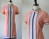 Vintage 1970s Dress 70s Dress 1960s Mod Dress Womens Day Dress Casual Clothing Shift Style 1970s Clothing Size Medium Large