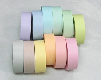 mt 2016 new- Solid Pastel color Japanese Washi Masking Tapes at your choice for packaging, scrapbooking, invitation making, party decoration
