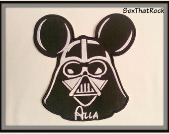 Personalized Darth Vader Mickey Mouse inspired t-shirt for Boys and  Girls - you pick shirt size & color - can fit up to 9 letters
