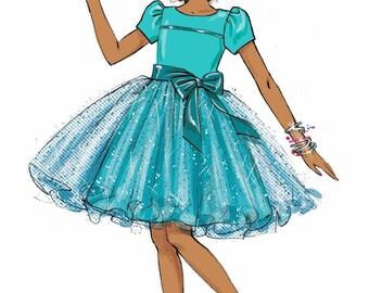 Little Girls' Dress Pattern, McCall's Sewing Pattern 7112
