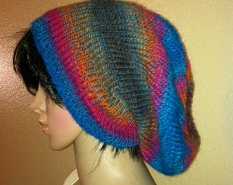 Multi colorFashionable slouchy beanie/hat