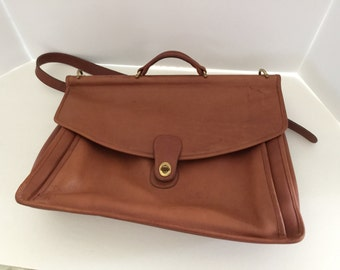 Vintage Coach Crossbody Briefcase c1980's