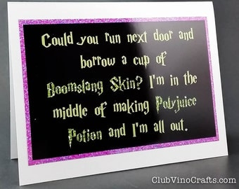 SALE Harry Potter Greeting Card - Boomslang Skin for Polyjuice Potion