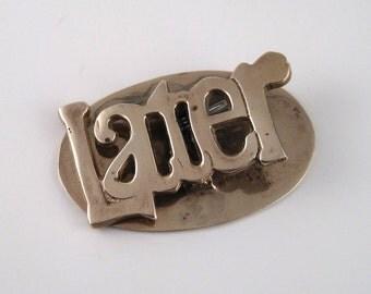 vintage brass mail holder - brass bill clip - solid brass decor - brass desk accessory - desk organizer - letter holder - bill reminder