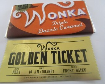Modern Charlie & the Chocolate Factory Wonka Bar and Golden Ticket Set