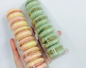 10 clear blister tray for macarons (packing 6 macarons)