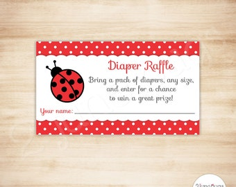 ladybug baby shower diaper raffle tickets ladybug baby girl shower invitation inserts red polka
