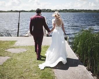 silk cherry blossom flower crown, rustic headband, woodland floral wreath, bridal headpieces, wedding hair accessories, boho beach crown