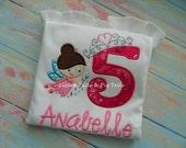 Girls Birthday Fairy Princess - Princess Fairies Birthday - Tinkerbelle - Pink Fairy - Favorite Fairy