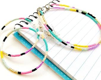 Minimalist Jewelry - Beaded Hoop Earrings - Gifts for Teens - Lightweight Earrings - Simple Hoop Earrings - Gifts for Her - Hoop Earring Set