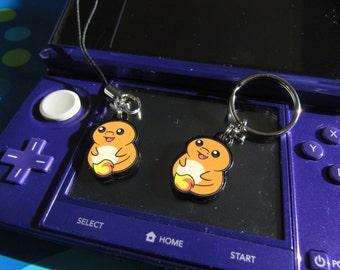 Charmander Chibi Acrylic Phone Charm, Key Chain, Earrings, or Necklace