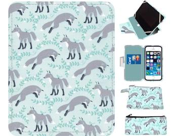 Fox Ipad case Ipad Air Case aqua tablet Case Kindle Case Nook Case Ipad Air 2 case Ipad mini case Ipad Mini 3 case