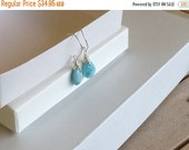 ON SALE Larimar Jewelry Bridesmaids jewelry Simple and minimalist Larimar earrings Blue jewelry gifts for her