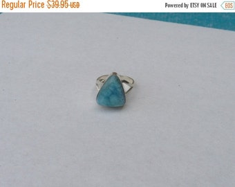 ON SALE Larimar Jewelry Larimar Ring Size 7 1/2 Sterling Silver 925  Fashion jewelry