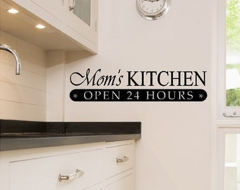 Moms Kitchen...Kitchen Wall Quotes Sayings Words Removable Wall Lettering
