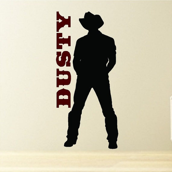 Personalized Cowboy Decal Wall Sticker Removable Western Wall Art