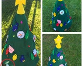 Felt Christmas Tree Plush for Kids - Kid-Friendly Christmas Felt Tree - Christmas Tree Advent Calendar for Toddlers