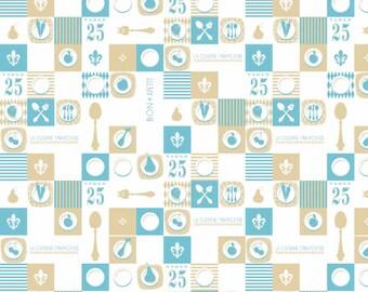 Ooh La La Plate Aqua- by Riley Blake Designs - you choose the cut