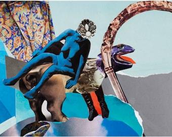 Original Collage instant download print - modern print - digital file - creative print - printable art - collage art printable art