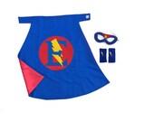 Personalized Superhero Cape Set  Super Hero party gift - Customized Cape, Mask and Armband Set PREMIUM set