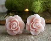 Bridal Plugs, Girly Plugs, Flower Plugs, Antique Pink, Roses