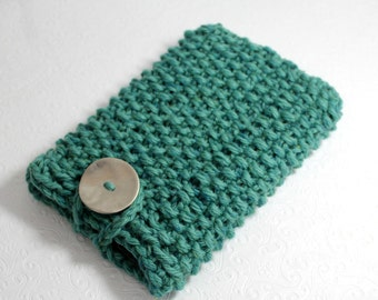 Knit IPad Mini Sleeve Seafoam Green Chunky, Knit Kindle Fire Case, Green Knit Notebook Sleeve, Knit Sleeve, Knit Ipad Mini, Knit Tablet Case