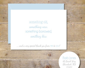 Bridal Shower, Thank You Cards, Something Old, Something New, Bridal Shower, Wedding Thank You Cards - Something Borrowed, Something Blue