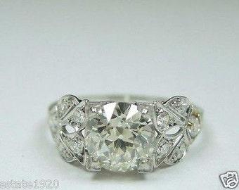 Antique Diamond Platinum Art Deco Engagement Ring | RE - 711
