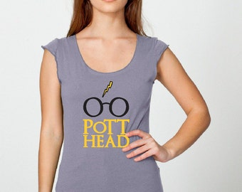 "Harry Potter Shirt, The Original ""Pott Head"" Shirt, The Perfect Gift for the Harry Potter Fan in your life"