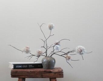 Pom Pom Flowers - Cream/Tan Centerpiece - Rustic Country Weddings - Showers - Parties - Minimalist Decor - Baby Nursery/Kids' Rooms