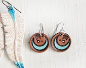 Reserved for April - Crescent Moon Leather Earrings