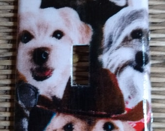 Dog Puppy Dogs Single Toggle Light Switch Plate Cover